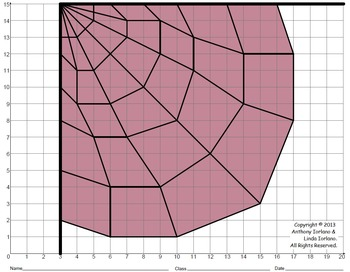 Spider Web (Elementary), Coordinate Graphing, Coordinate Drawing