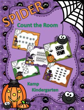 Halloween Spiders Count the Room