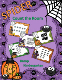 Halloween Spiders Count the Room