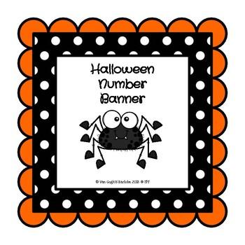 Halloween Spiders Number Banner