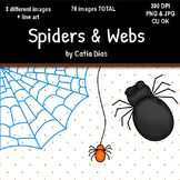 Halloween - Spiders & Webs Clip Art