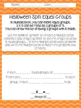 Halloween Spin Equal Groups