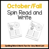 Halloween Spin Read and Write Template