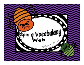 Halloween Spin a Vocabulary Web