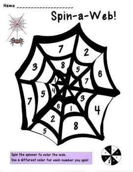 Halloween Spin-a Web Math Game