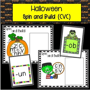 Halloween Spin and Build Onset and Rime (CVC)