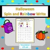Halloween Spin and Rainbow Write
