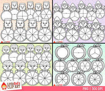 Halloween Spinners Clip Art Bundle