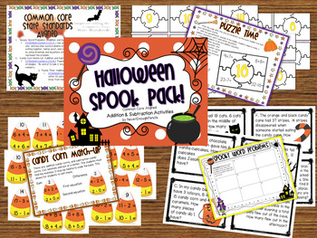 Halloween Spook Pack {2nd Grade CCSS Aligned}- Math Task Cards & Activities