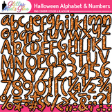 Halloween Alphabet & Numbers Clip Art {Glitter Letters for