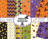 October Halloween Spooktacular Candy Witch 24 Digital Paper 2 sizes 8.5x11 12x12