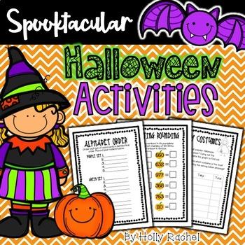 Halloween Spooktacular Math and Literacy Activities