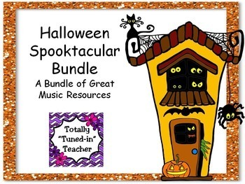 Halloween Spooktacular Music Bundle of resources