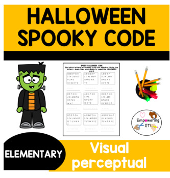 Halloween Spooky Code find the missing letters to unscramble words 4 versions