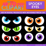 Halloween Spooky Eyes Clip Art (Digital Use Ok!)