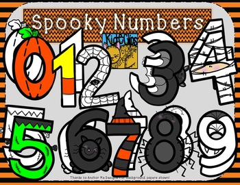 Halloween Spooky Number Clip Art by Kid-E-Clips Personal Commercial