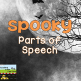 Halloween Spooky Parts of Speech for October