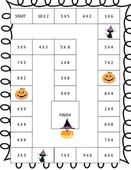Halloween Spooky Path Multiplication Game