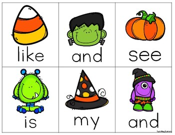 Halloween Spooky Sight Words Write the Room
