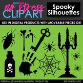 Halloween Spooky Silhouettes Clip Art (Digital Use Ok!)