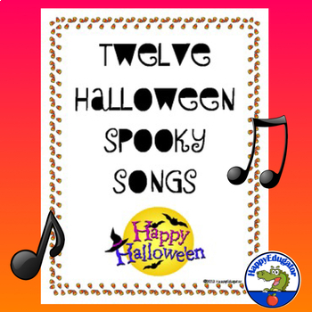 halloween songs by happyedugator teachers pay teachers. Black Bedroom Furniture Sets. Home Design Ideas
