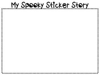 Halloween Spooky Sticker Story {FREEBIE!}