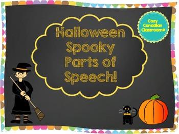 Halloween - Spooky parts of speech NO PREP!