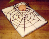 Halloween Spyder with Web Cake - How to Make