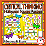 CRITICAL THINKING PUZZLES Halloween Activity Brain Teasers Differentiation GATE