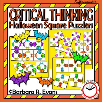 CRITICAL THINKING: Halloween Square Puzzlers