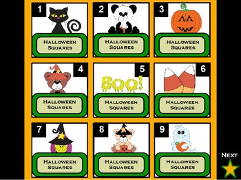 Halloween Squares ActivInspire Game Template (Hollywood Squares)