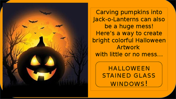 Halloween Stained Glass Windows