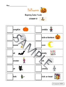 Halloween Stamp It: Beginning Sounds