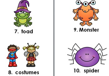 Halloween Stamp a Word & Write the Room Centers