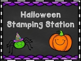 Halloween Stamping Station FREEBIE