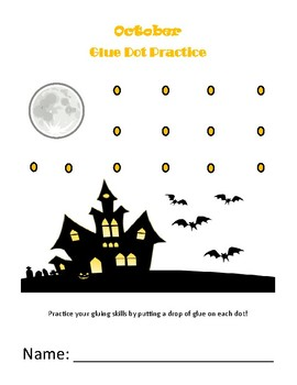 photo about Starry Night Printable named Halloween Starry Evening Glue Dot Printable