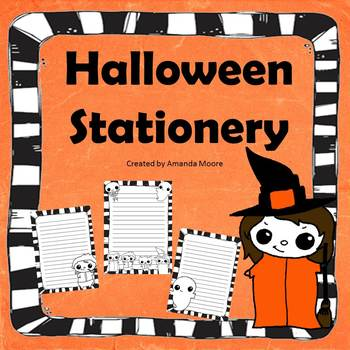 Halloween Stationery: Great for Work on Writing!