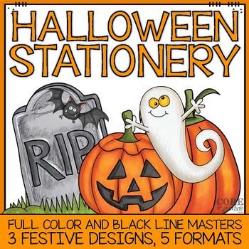 photo regarding Halloween Stationery Printable known as Halloween Stationery Worksheets Instruction Supplies TpT