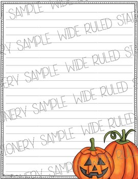 October & Halloween Stationery Printable Pack