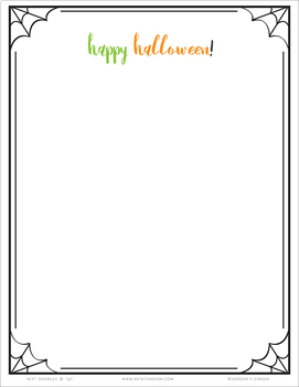 Halloween Stationery Set