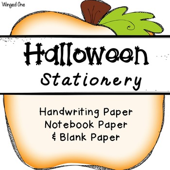 Halloween Writing Paper / Stationery