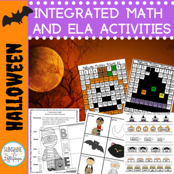 Halloween Literacy Centers Math and more for first grade!