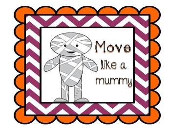 Halloween Steady Beat Movement Cards