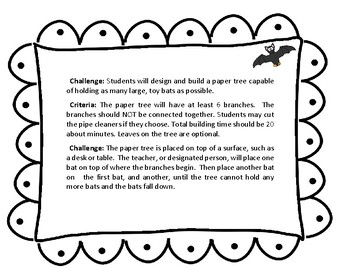 Halloween Stem Challenge: How many bats can roost on a paper tree?