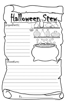 Halloween Stew Student Writing Project