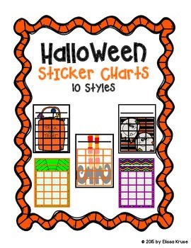 Halloween Sticker Charts {10 colorful styles}