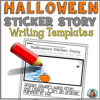 Halloween Writing Paper Sticker Story FREE PRINTABLE by Teacher's Brain