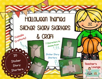Halloween Sticker Story Starters and Prompts Craft