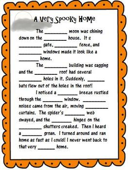 Halloween Stories With Descriptive Adjectives