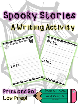 Halloween Stories Writing Activity